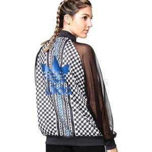 Adidas Mesh Houndstooth Trefoil Jacket